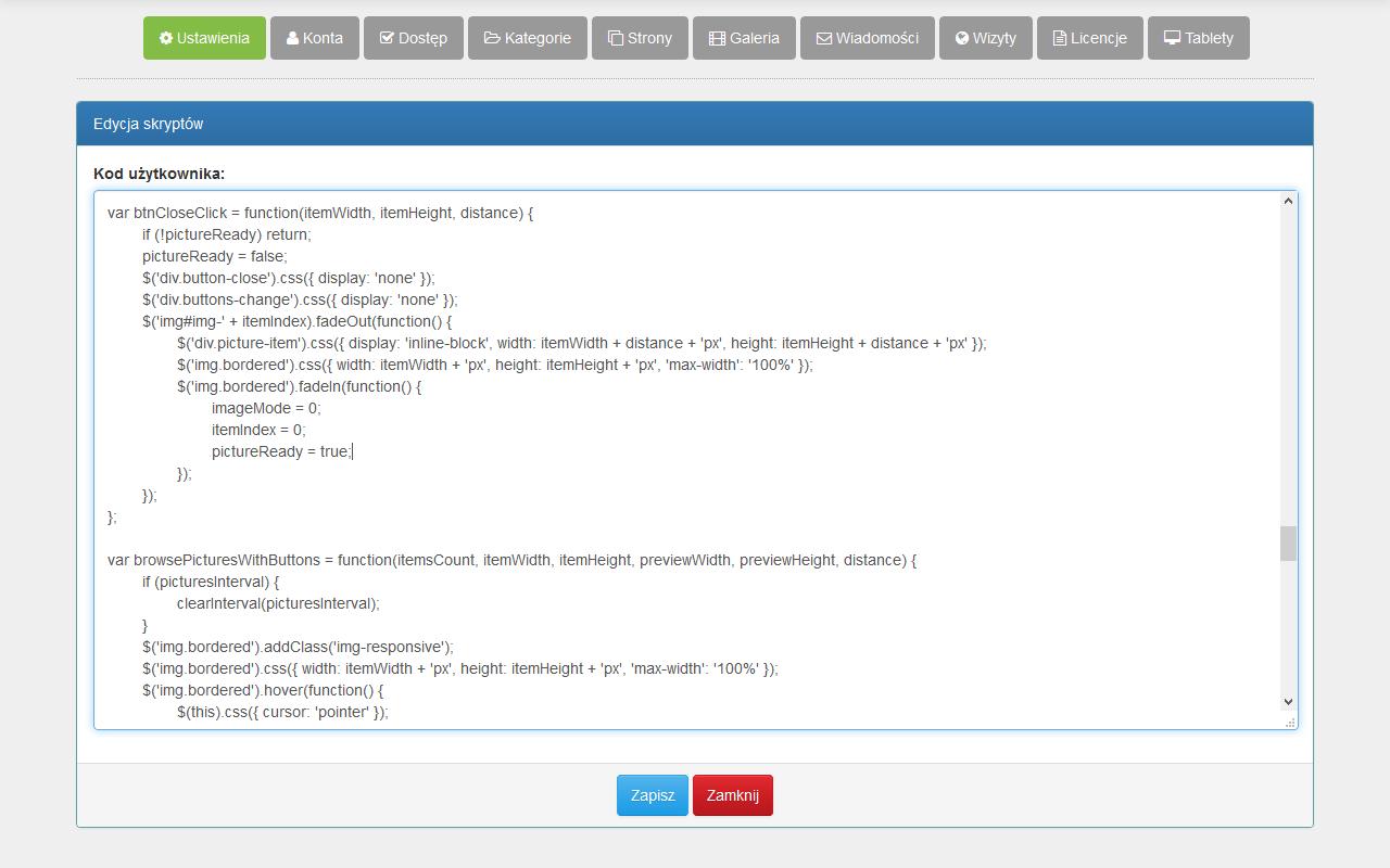 Angular CMS - JavaScripts